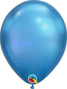 chrome balloons blue chrome balloons