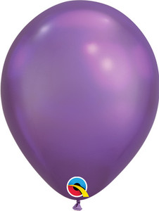 chrome purple balloons