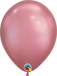 mauve chrome balloons