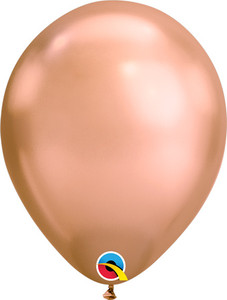 "11"" Qualatex Chrome Rose Gold Helium Latex Balloons 100ct #12966"