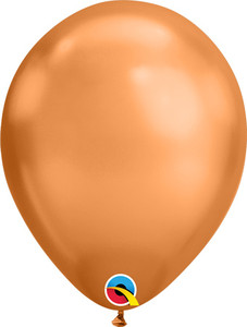 copper chrome balloons