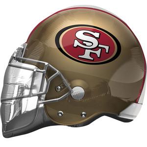 "21"" San Fran 49ers Helmet Shape Helium Foil Balloon 1ct  #26308"