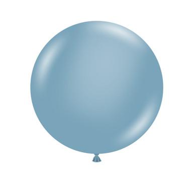 "24""  balloons Blue Slate balloons tuf tex balloons"
