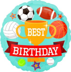 "18"" Happy Birthday Sports Helium Foil Balloon (5 Pack)  #36648"