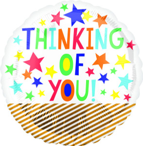 "18"" Thinking Of You Fun Stars  Helium Foil Balloon #36664"
