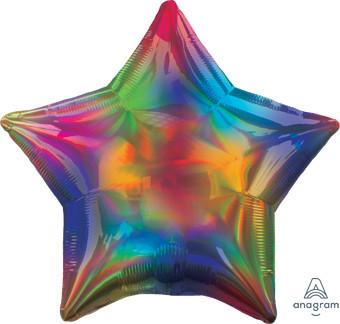 multi color star balloon
