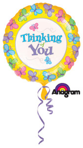 "18"" Thinking Of You Butterfly Balloon (5 Pack) #07311"