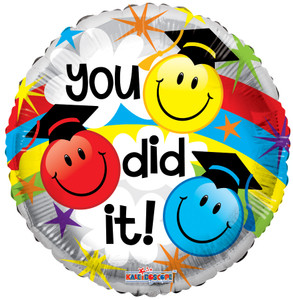 "18"" Smiley You Did IT! Graduation Balloon (5 Pack) #85339"