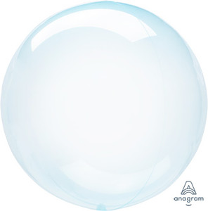 "18"" Crystal Clearz BlueTransparent Bubble Balloon (1 PACK) #82847"