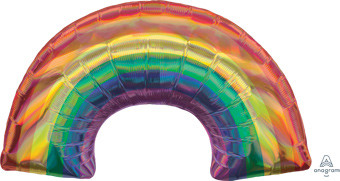 "34"" Holographic Iridescent Rainbow Shape Balloon #39382"