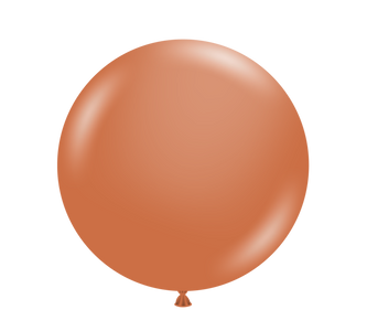 burnt orange balloons by tuf tux