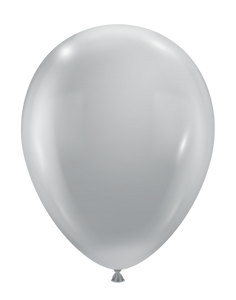 luxe silver balloons by tuf tex