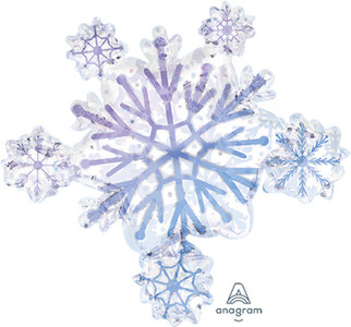 large snow flake balloon