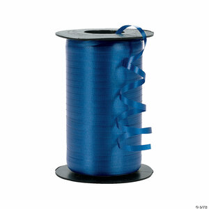 "Blue Super Strong Crimped Curling Ribbon 3/16"" 500 Yards /1500 feet"