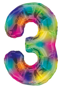 rainbow number balloons