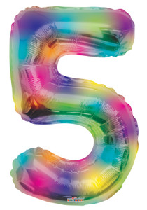 number balloons rainbow number balloons