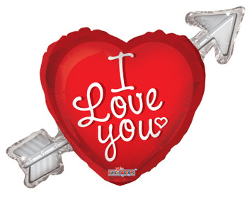 "36"" Jumbo I Love You Heart with Arrow Shape Balloon 1ct #19325"