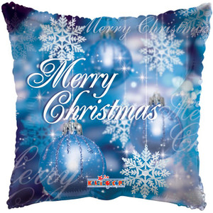 """18"""" Merry Christmas Snow Flake Square Helium Foil Balloon (5 PACK) #89078-18"""