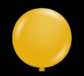 "11"" Tuf-Tex Mustard Latex Balloons 100ct  #10024"