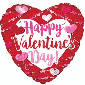 "18"" Happy Valentine's Day Big Type Hearts (5 PACK) #214082"