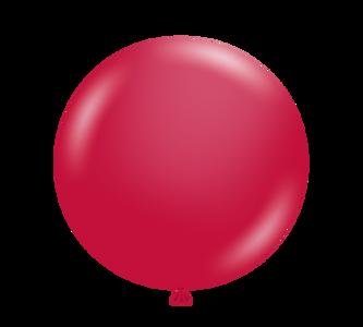 "5"" Tuf-Tex Metallic Star Fire Red Latex Balloons 50CT #15053"