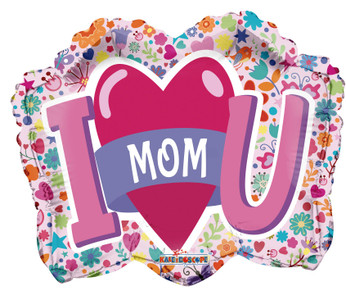 i love you mom shape