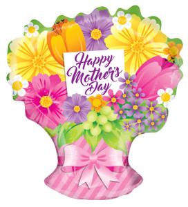 """18"""" Mother's Day Happy Mother's Bouquet Shape Balloon (5PACK) #84269"""