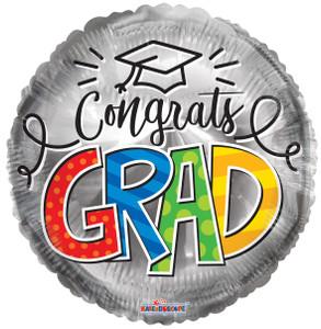 graduation balloons, silver graduation balloons