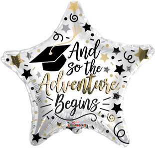 "18"" ""The Adventure Begins"" Grad Graduation Balloons Helium Foil Balloons (5 Pack)#85357"