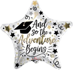 "18"" ""The Adventure Begins"" Grad Graduation Balloons Helium Foil Balloons (5 Pack)#85357"