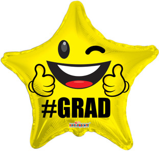 grad smiley star