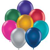 """11"""" Assorted Pearl Metallic Colors Latex Balloons 100ct #10050"""