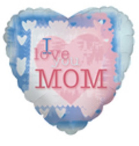 "**Special Sale Price** 18"" I Love You Mom Heart Shape Helium Foil Balloon(5 PACK)#84196"