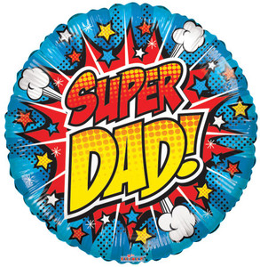 "Coming Soon 18"" Super Dad Helium Foil Balloon (5 Pack)#86122"