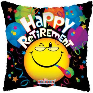 "18"" Retirement Smiley Helium Foil Balloon #19233"