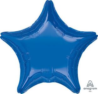 "19"" Navy Star Helium Foil Balloon 5 Pack  #22469"