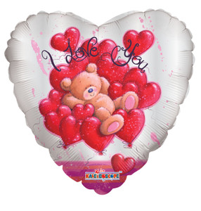 "18"" I Love You Bear Sitting in Small Hearts (5 PACK) #20219"