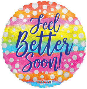 """9"""" Mini Feet Better Soon Dots with Fade Balloons (5 PACK) 15495-09"""