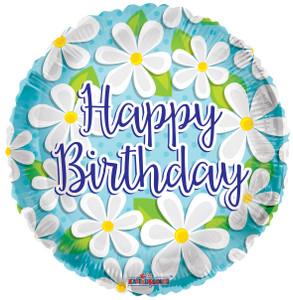 "18"" Happy Birthday Daisies Helium Foil Balloons (5 Pack)#15054"