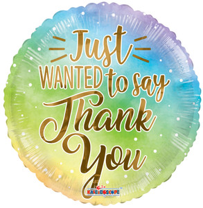 """18"""" Just Wanted to Thank You  Helium Foil Balloons (5 Pack)#16487"""