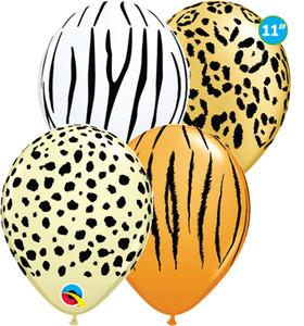 "5"""" Qualatex Safari Print Balloon Assortment 100 Bag #87144"