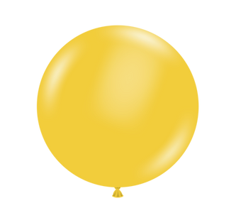"36"" Tuf Tex Goldenrod Round Latex Balloon 1ct #3644"