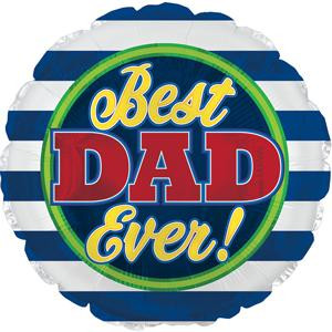 """18"""" Best Dad Ever Helium Foil Balloons (5 Pack)#114440"""