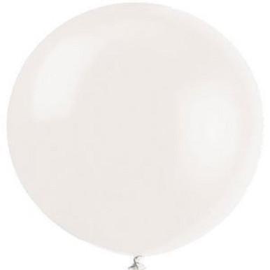 white decorator balloons