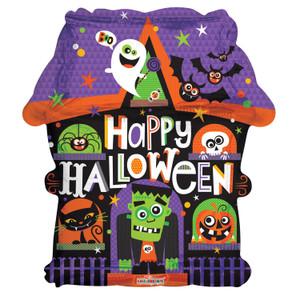halloween haunted house balloons