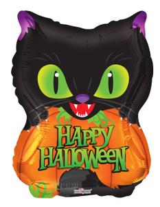 halloween scary cat balloons