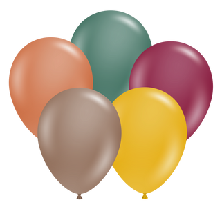 "New Combo 17"" Tuf-Tex Autumn Assortment Latex Balloons 50ct#17070"