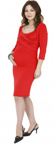 Toni Criss Cross Maternity and Nursing Dress - More Colors