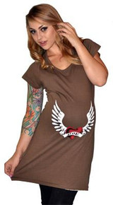 Heart and Wing Maternity Tee Dress