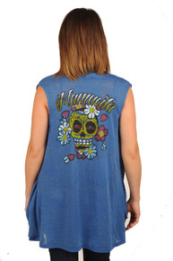 Mamacita Sugar Skull Sleeveless Maternity/Nursing Throwover